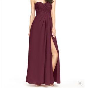 Azazie Arabella Cabernet dress size A2 not altered